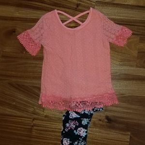 Girls Short Sleeve and Long Pants Set